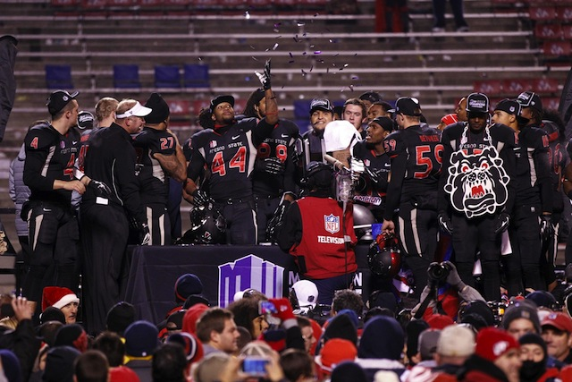 Defending MW champion Fresno State will play three games on Friday night in 2014.  (USATSI)
