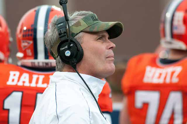 Tim Beckman has won only one Big Ten game in his first two seasons at Illinois