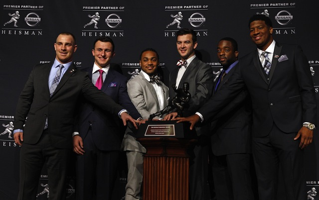 Five of the six Heisman finalists are listed on our Top 10 individual performances of the 2013 season.  (USATSI)