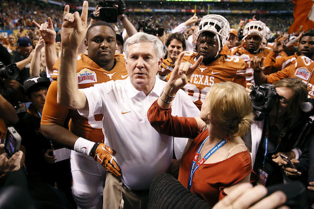 Mack Brown resigned at Texas following the 2013 season.