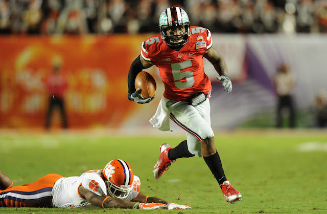 Braxton Miller reportedly injured his shoulder in the Orange Bowl against Clemson.  (USATSI)