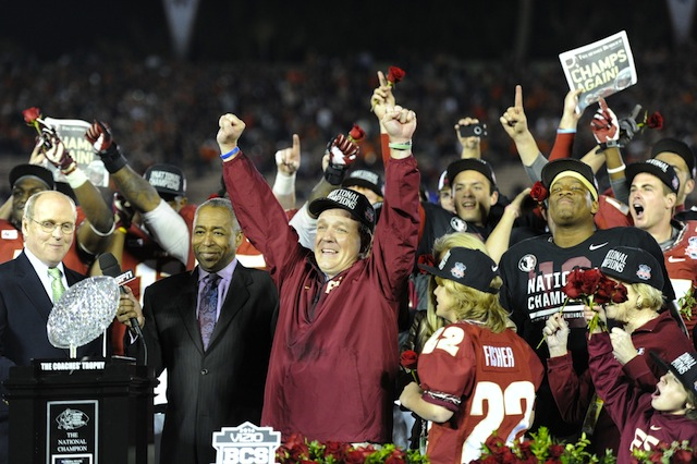 Florida State shared photos of all the title rings from the 2013 season.  (USATSI)
