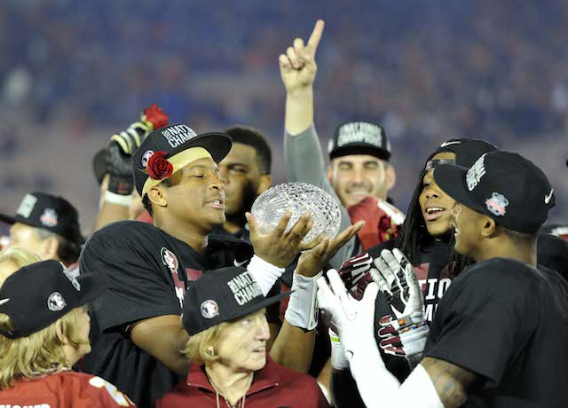 Florida State begins its title defense Saturday night.