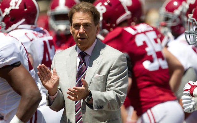 Nick Saban has some kind lies to tell you about the Big Ten
