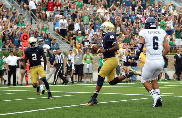 Everett Golson's return to South Bend couldn't have gone any better