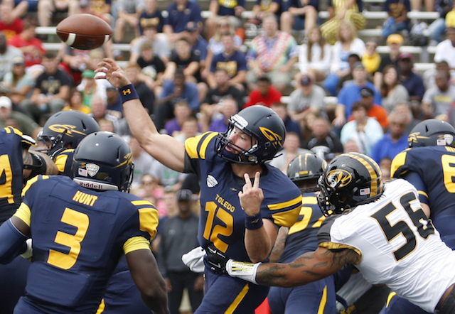 Phillip Ely transferred from Alabama to Toledo in 2013