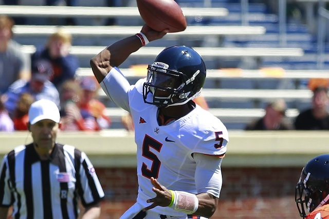 Virginia quarterback David Watford will start for the Cavs in 2013, Mike London announced Monday. (USATSI)