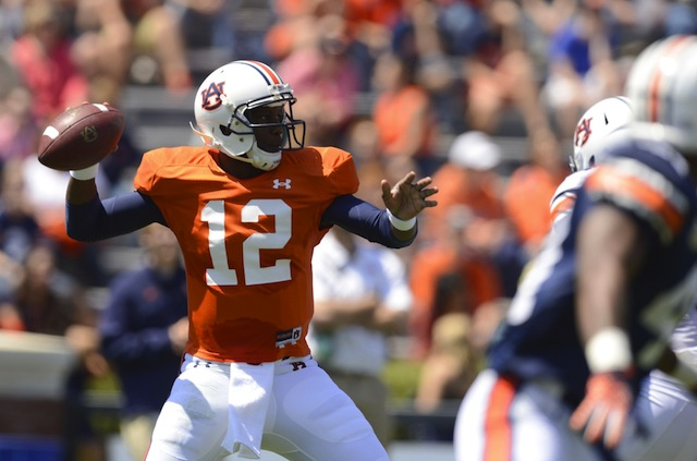 Jonathan Wallace will continue to battle with Kiehl Frazier for Auburn's starting job into fall camp. (USATSI)