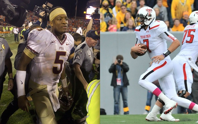Jameis Winston and Davis Webb each threw for over 400 yards on the road this weekend. (USATSI)
