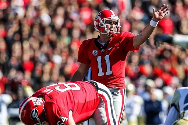 Aaron Murray is taking a spring break trip to exotic Oklahoma. (USATSI)