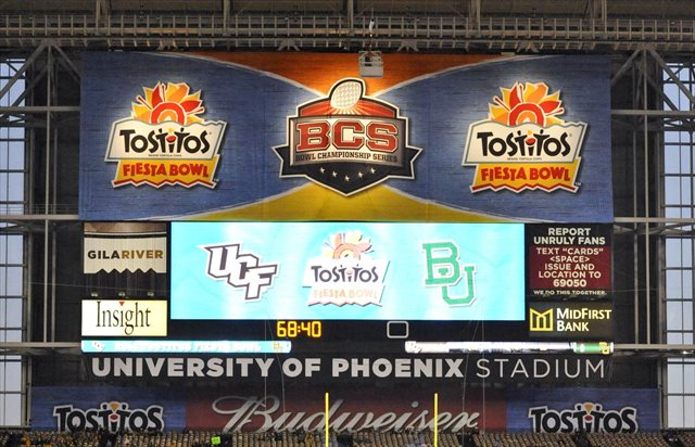 The Fiesta Bowl has some in-stadium rebranding work to do. (USATSI)