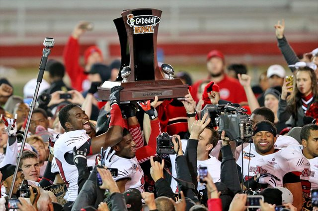 The next coach of 2014 GoDaddy Bowl champions Arkansas State could be YOU. (USATSI)