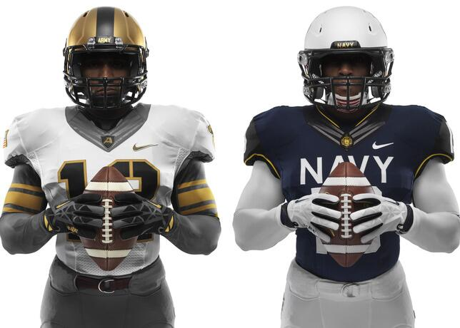 PHOTOS: Uniforms revealed for Army-Navy game