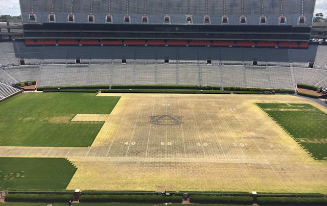 LOOK: Auburn's stadium needs new grass after Kenny Chesney ...
