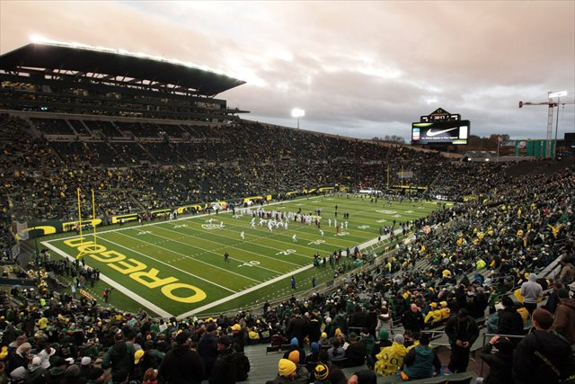 Autzen Stadium will host another Pac-12 title game if the league media are right. (USATSI)