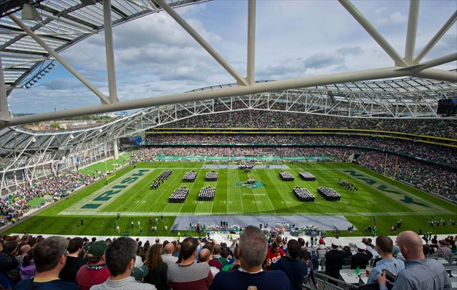 Aviva Stadium could host Penn State and UCF in 2014 after Notre Dame and Navy in 2012. (USATSI)