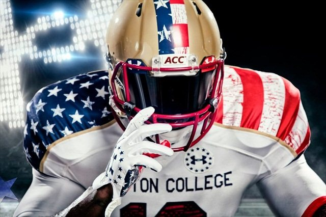 super popular acdac 8c293 PHOTOS: A detailed look at Boston College's 'Freedom Jerseys ...