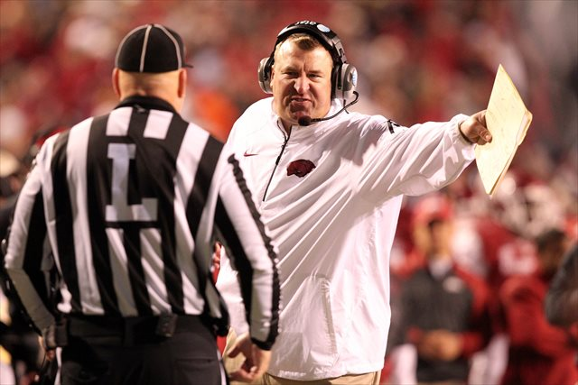 Bret Bielema is concerned with the safety of players of sickle-cell trait. (USATSI)
