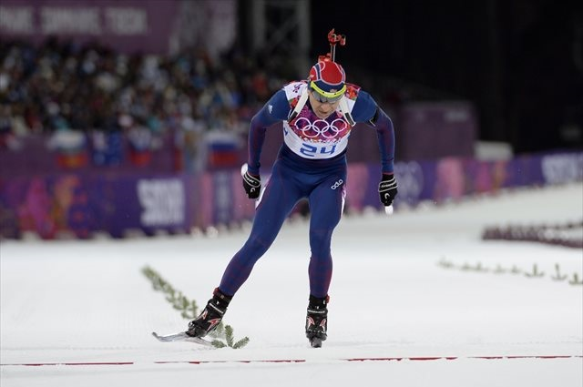 Ole Einar Bjorndaelen missed only one target on his way to biathlon gold. (USATSI)