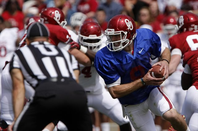 Blake Bell could be on the verge of missing out on the Sooner starting QB job. (USATSI)