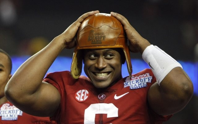 Blake Sims had reason to smile after his West Virginia performance. (USATSI)