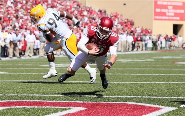 Brandon Allen left the game after this rushing touchdown. (USATSI)