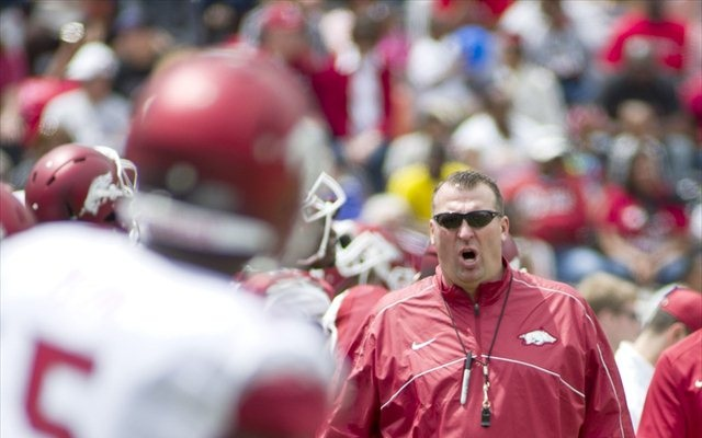 Bret Bielema wants defenses to have a chance to substitute during no-huddle drives. (USATSI)