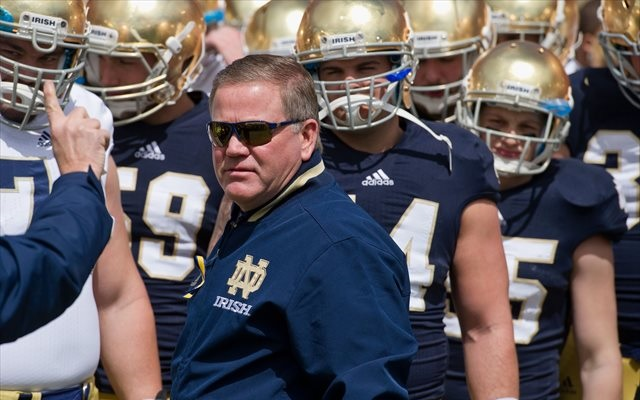 Brian Kelly has changed his tune on the importance of Michigan-Notre Dame. (USATSI)