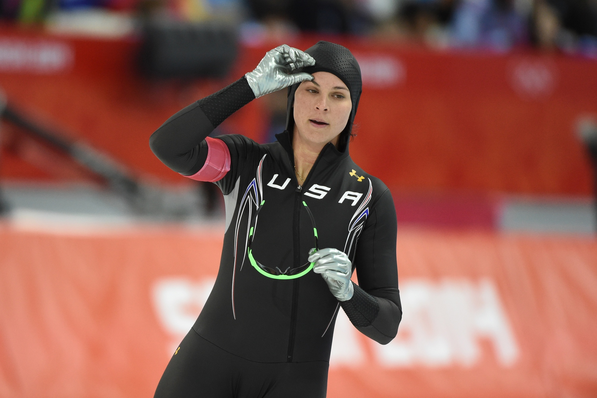 Was Brittany Bowe's suit to blame for her eighth-place finish in the 1000 meters? (USATSI)