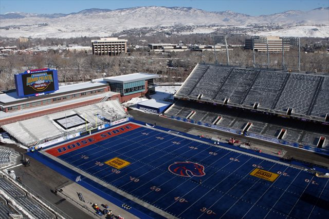 Bronco Stadium is no longer Bronco Stadium, but Boise State does have a pile of money. (USATSI)