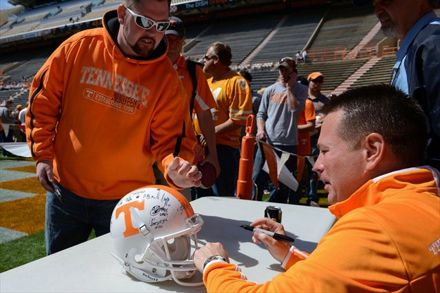 Butch Jones has won over a skeptical Tennessee fanbase. (USATSI)
