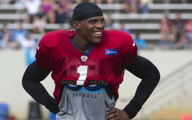 Cam Newton said at Panthers camp that he's talked to fellow Heisman winner Johnny Manziel. (USATSI)