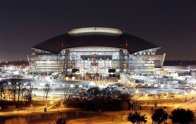 Cowboys Stadium will reportedly host the first-ever College Football Playoff championship. (Getty Images)