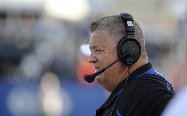 Charlie Weis is looking for answers in Lawrence. (USATSI)