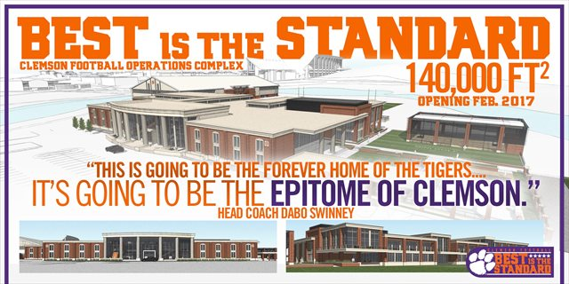 Dabo Swinney is understandably excited about Clemson's $55 million football complex. (ClemsonTigers.com)
