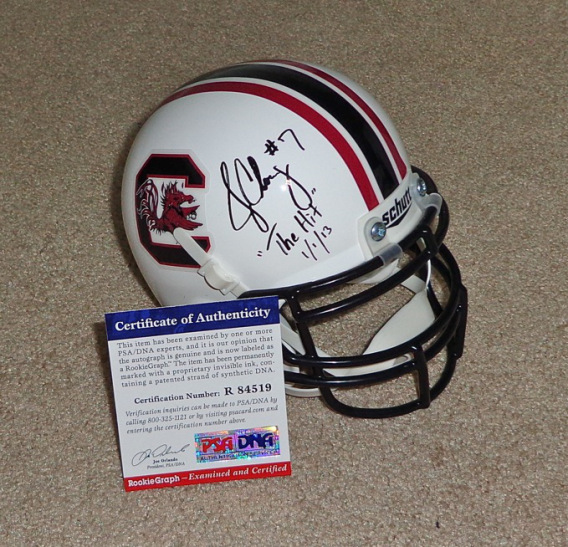 Multiple Manziel, Clowney, Bridgewater, and Miller autographed items found for sale on eBay.