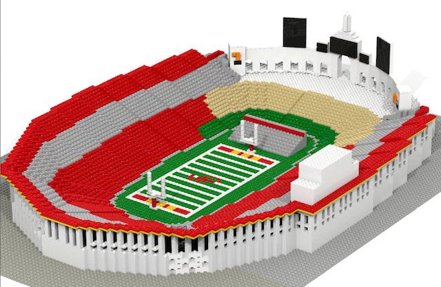 college football stadium lego replicas