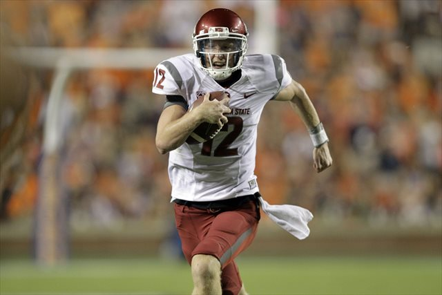 Connor Halliday threw for 344 yards but also 3 interceptions in the Cougars' loss. (USATSI)