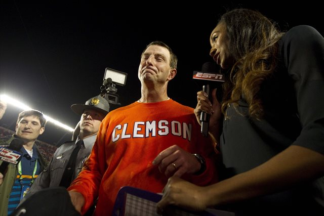 Clemson officials have stood behind Dabo Swinney. (USATSI)