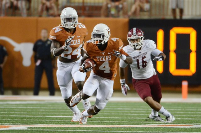 Daje Johnson's absence hurt the Texas offense in Provo. (USATSI)