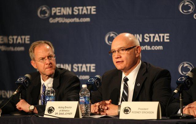 Dave Joyner (right) hired both Bill O'Brien and James Franklin. (USATSI)