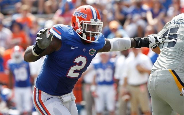 Dominique Easley may have seen his Florida career end in practice Tuesday. (USATSI)