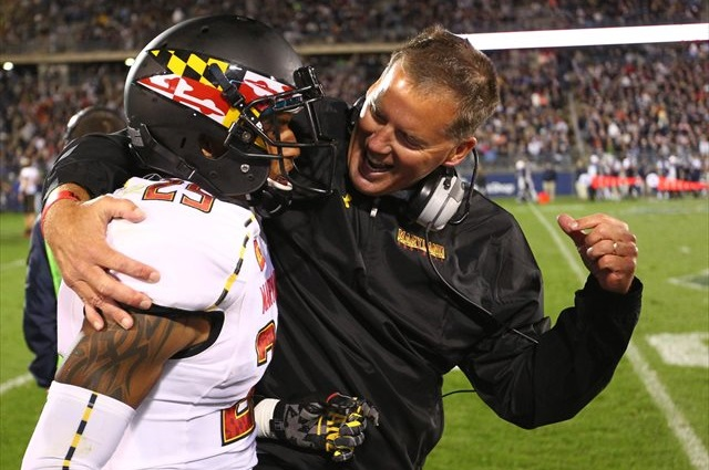 Randy Edsall says when it comes to recruiting, 'talk is cheap.' (USATSI)