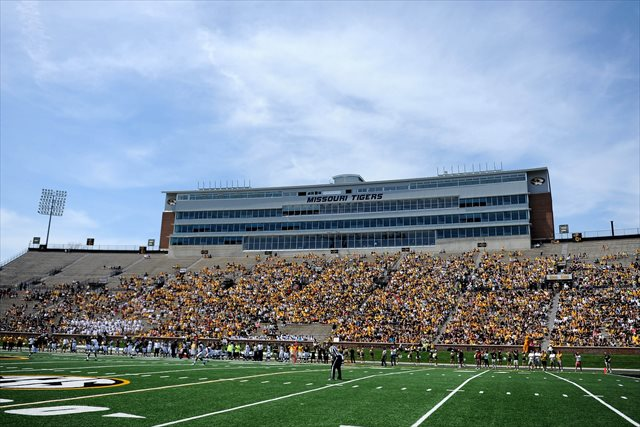 Faurot Field (pictured during the 2014 Gold Game) will host Purdue in 2017. (USATSI)