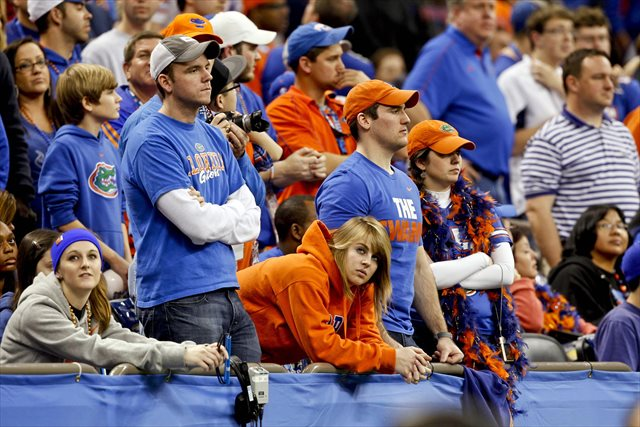What Florida fans there were at the Sugar Bowl didn't have much to cheer. (USATSI)