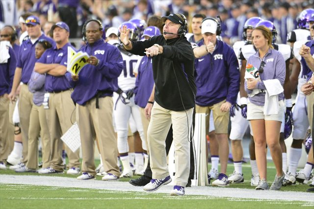 Gary Patterson is making a change to his offense. (USATSI)