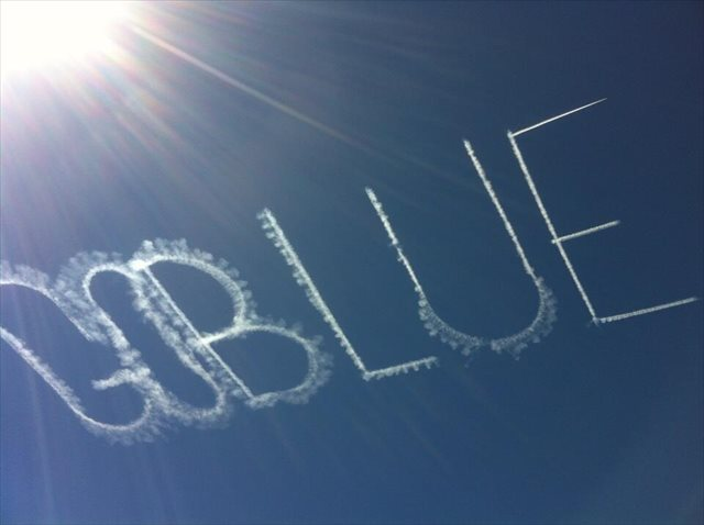 The University of Michigan paid for this message above Spartan Stadium last week. (Trevor Parks)