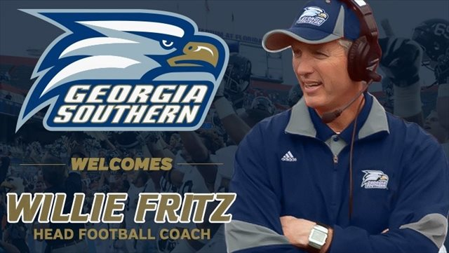 Willie Fritz made two consecutive FCS championship game appearances. (GSU Athletics)