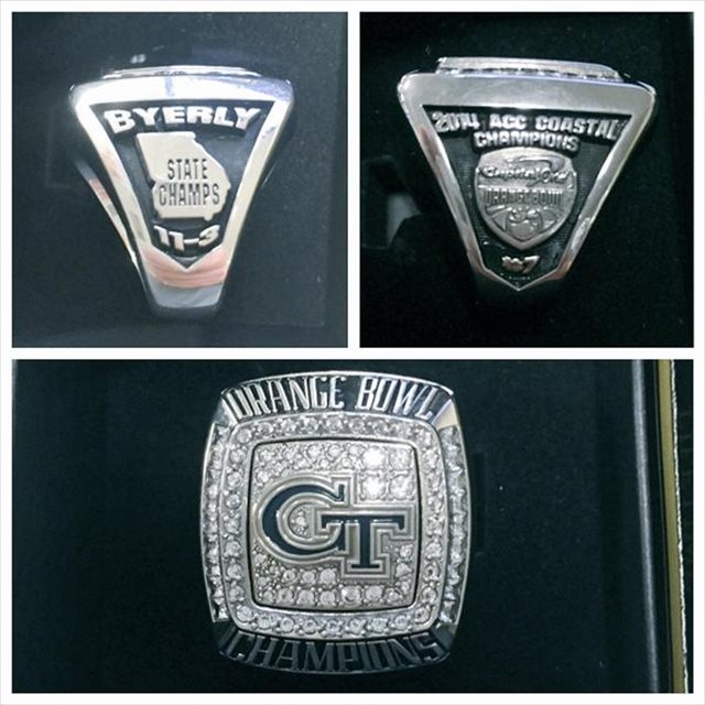 496a8d0c6f36e LOOK  Georgia Tech s Orange Bowl rings also honor  state champs ...
