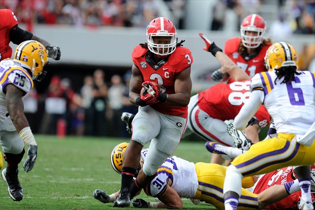 Todd Gurley will not play in the second half vs. LSU. (USATSI)